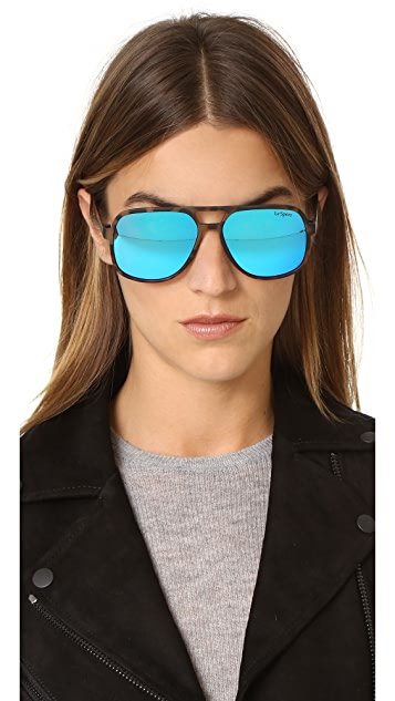 Le Specs Cousteau Mirrored Sunglasses