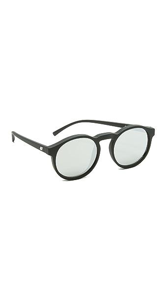 Le Specs Cubanos Sunglasses - Black Rubber/Silver Revo