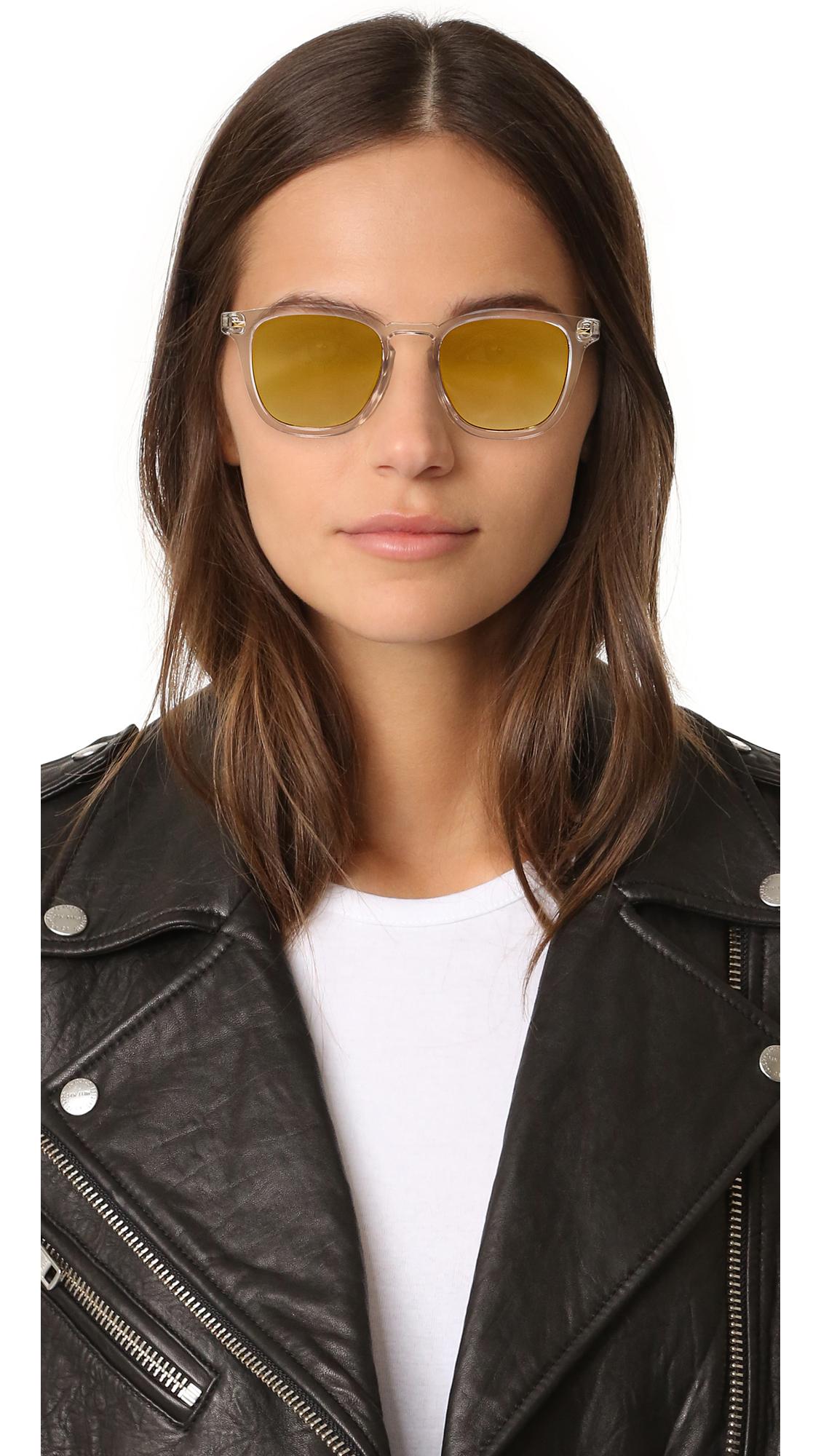 0127673fc0 Le Specs No Biggie Mirrored Sunglasses