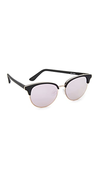 Le Specs Deja Vu Sunglasses - Black Rubber/Peach Revo