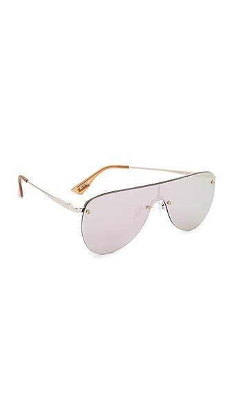 Le Specs The King Sunglasses - Rose Gold/Peach Revo