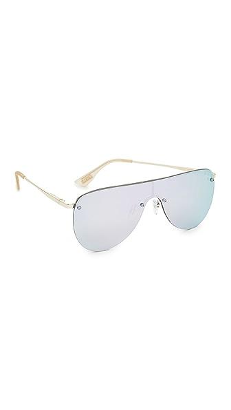Le Specs The King Sunglasses In Gold/Diamond Revo