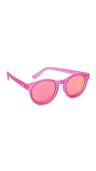 Le Specs Hey Macarena Sunglasses - Matte Magenta/Magenta