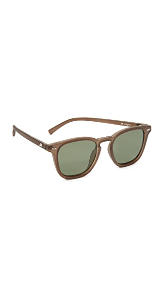 Le Specs No Biggie Sunglasses - Matte Pebble/Khaki Mono