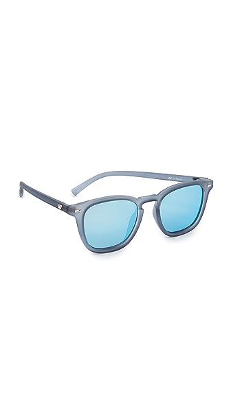 Le Specs No Biggie Sunglasses - Slate Rubber/Ice Blue Revo