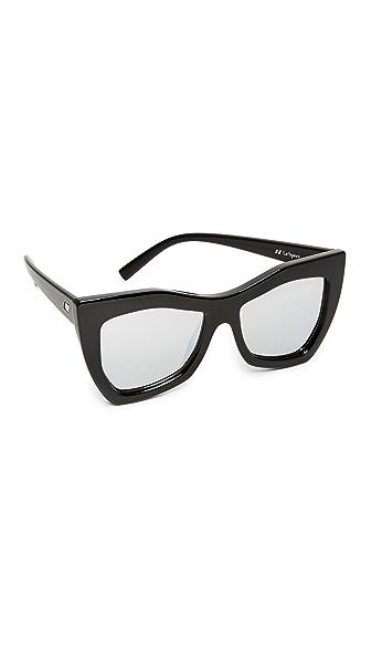 Le Specs Kick It Sunglasses - Black/Silver Revo