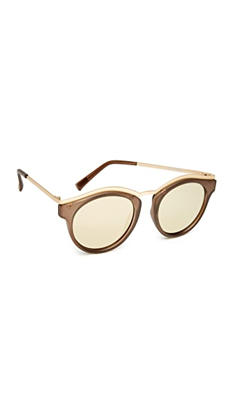 Le Specs Hypnotiz Sunglasses - Matte Pebble/Gold Revo