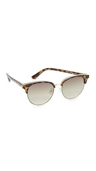 Le Specs Deja Vu Sunglasses - Milky Tort/Khaki Grad