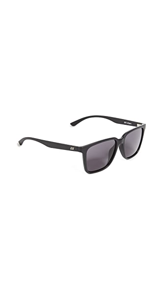 Le Specs Fair Game Sunglasses In Black/Smoke Mono