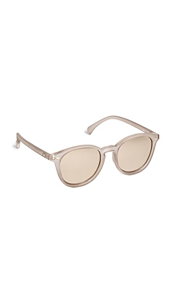 Le Specs Bandwagon Sunglasses In Matte Stone/Copper Revo