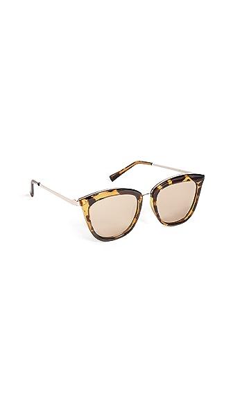 Le Specs Caliente Sunglasses In Syrup Tort/Copper Revo