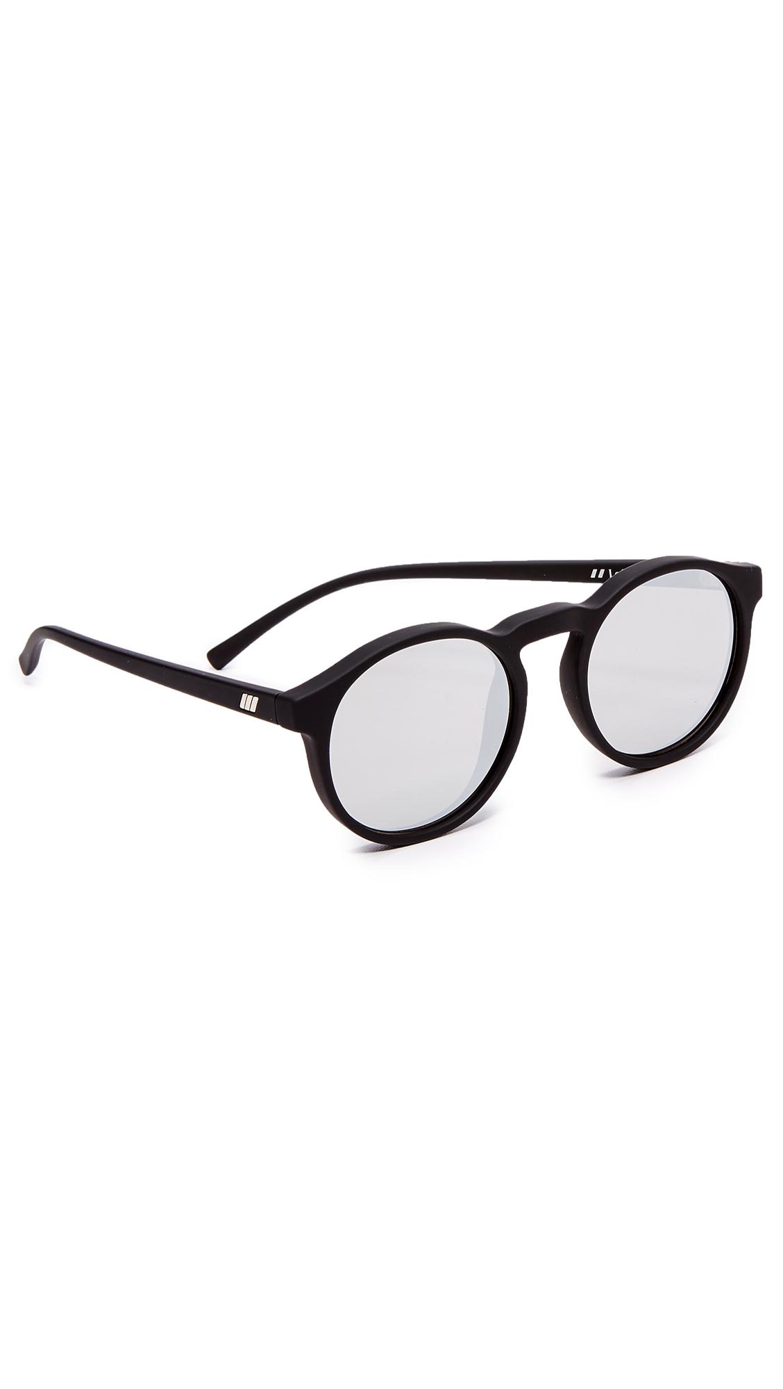 c49a350f2ff Le Specs Cubanos Sunglasses In Black Rubber Silver Revo ...