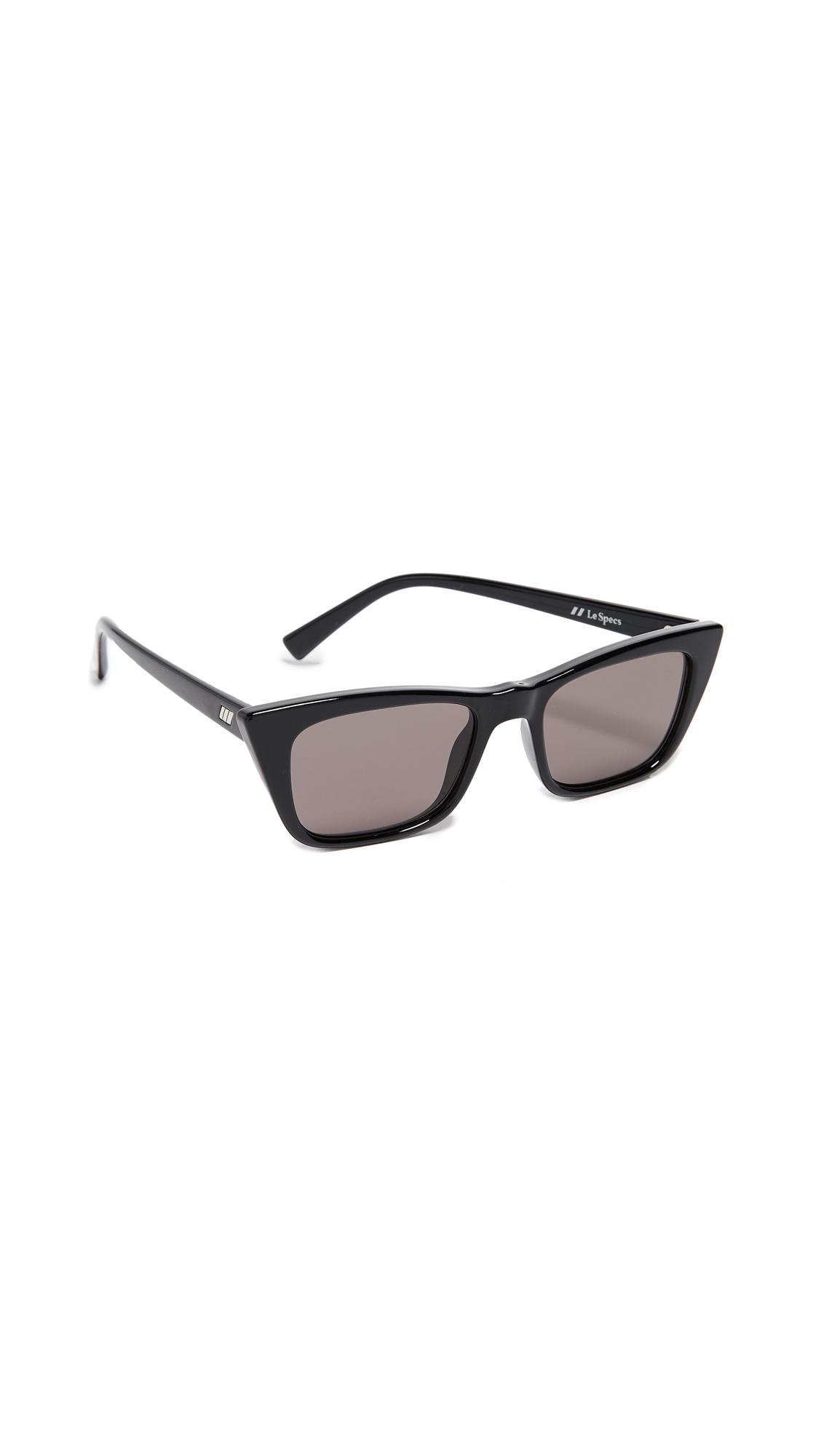 Le Specs I Feel Love Sunglasses In Black/Black