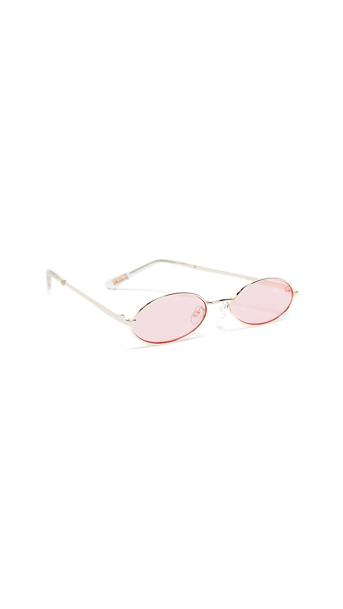 Women'S Love Train Oval Sunglasses, 51Mm in Gold/Pink