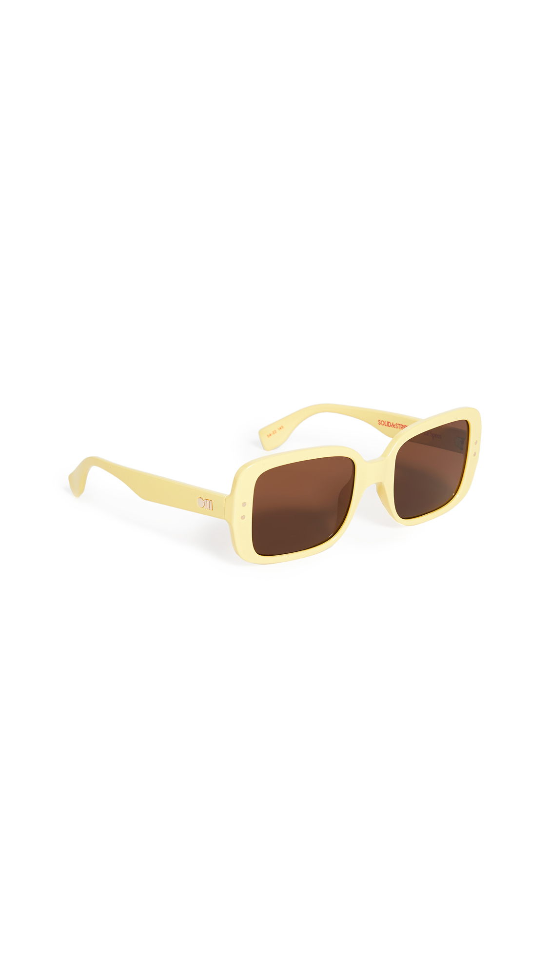 Le Specs X Solid & Striped Saline Sunglasses In Yellow/brown Mono