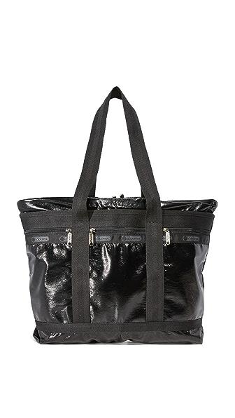 LeSportsac Объемная дорожная сумка с короткими ручками среднего размера