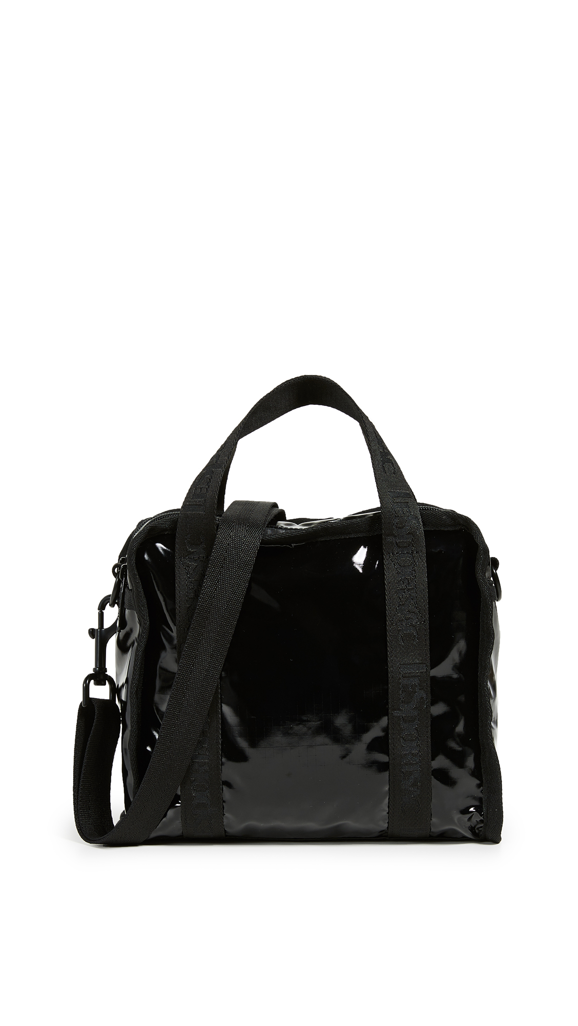 Gabrielle Small Box Crossbody Bag, Black