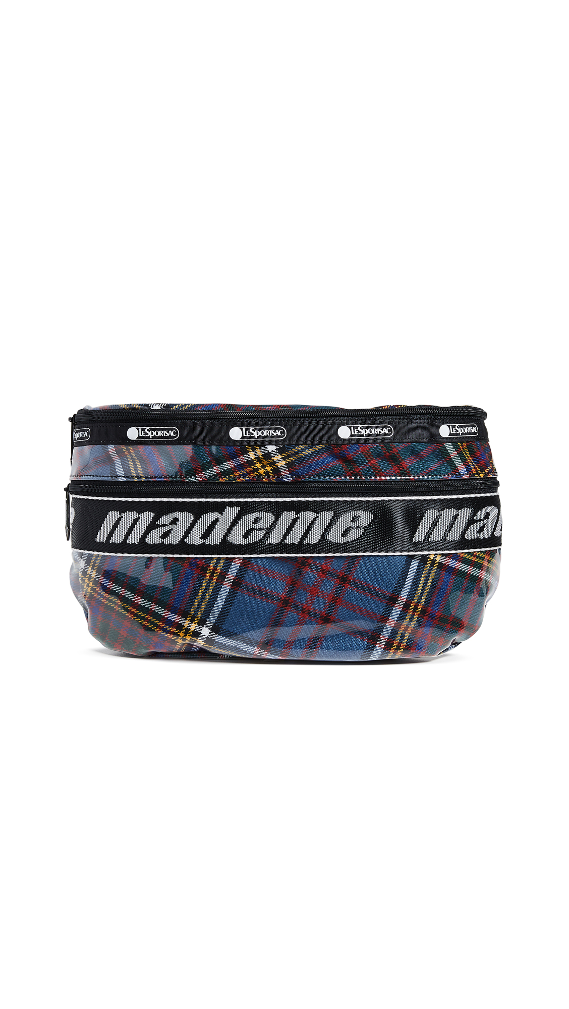 LESPORTSAC X Mademe Belt Bag in Blue Plaid