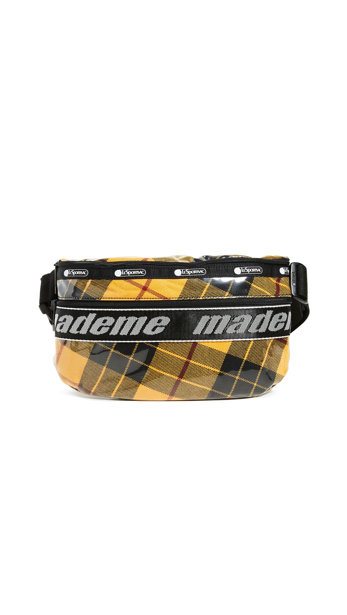 LESPORTSAC X Mademe Belt Bag in Yellow Plaid