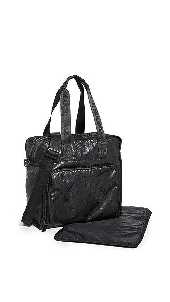 LeSportsac Gabrielle Box Tote Bag - Black Python