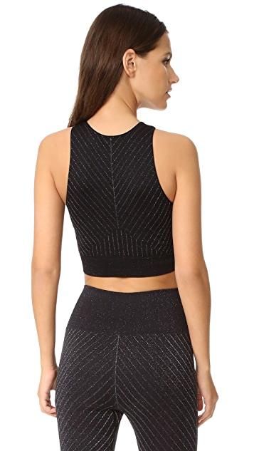 Lucas Hugh Technical Knit Stardust Crop Top