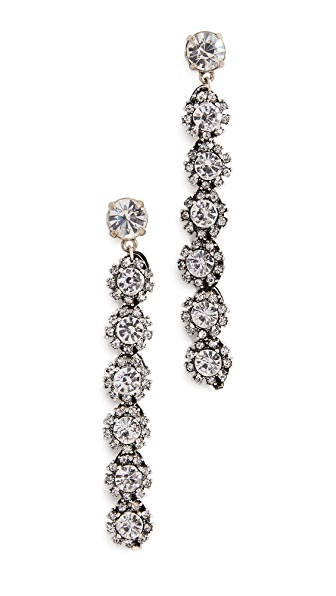 Lulu Frost Royale Crystal Line Earrings In Clear