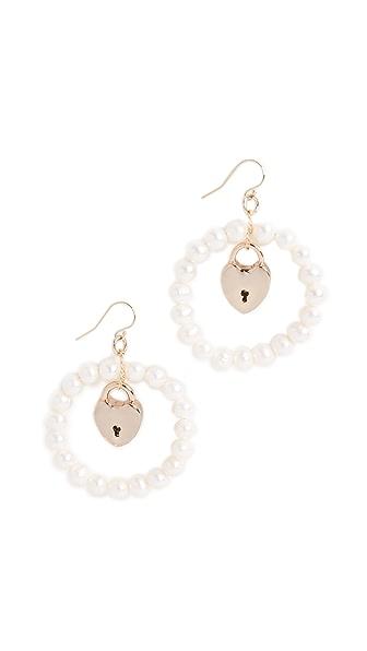 Lulu Frost Yvette Earrings In Pearl/Gold
