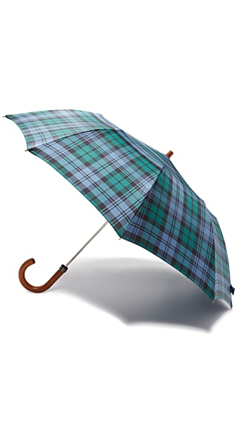 London Undercover Tartan Telescopic Umbrella with Maple Handle