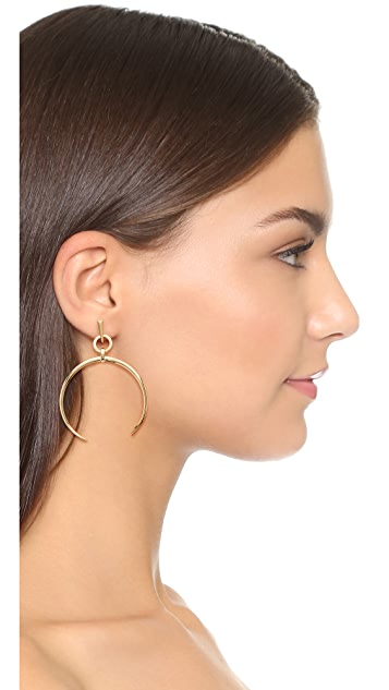 Luv Aj Oversized Crescent Hoop Earrings