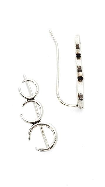 Luv Aj The Crescent Crawler Earrings