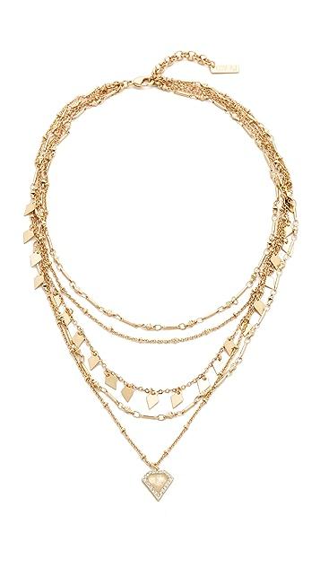 Luv Aj The Moonstone Multi Charm Necklace