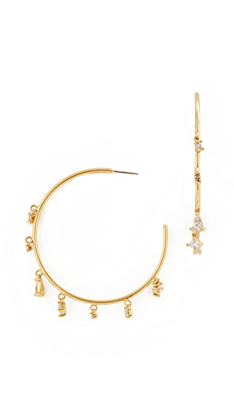 Luv Aj The Scattered Statement Hoop Earrings In Gold