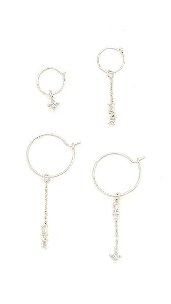 Luv Aj The Scattered Gem Mini Hoop Earrings