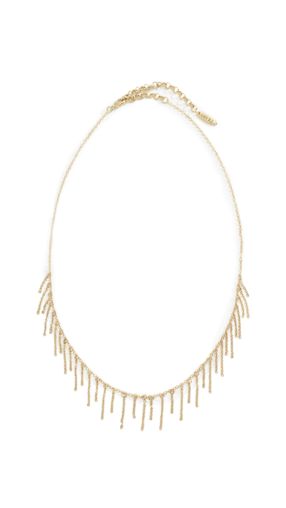 LUV AJ Chain Fringe Necklace in Yellow Gold