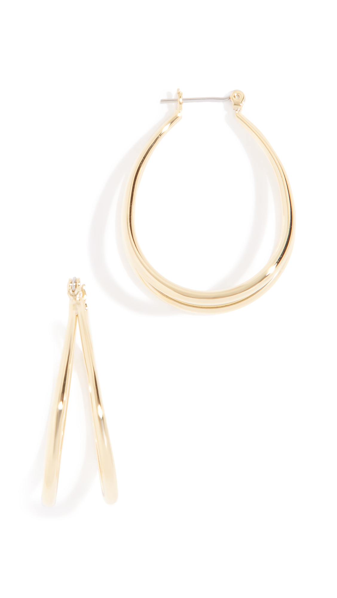 LUV AJ Florence Hoop Earrings in Gold
