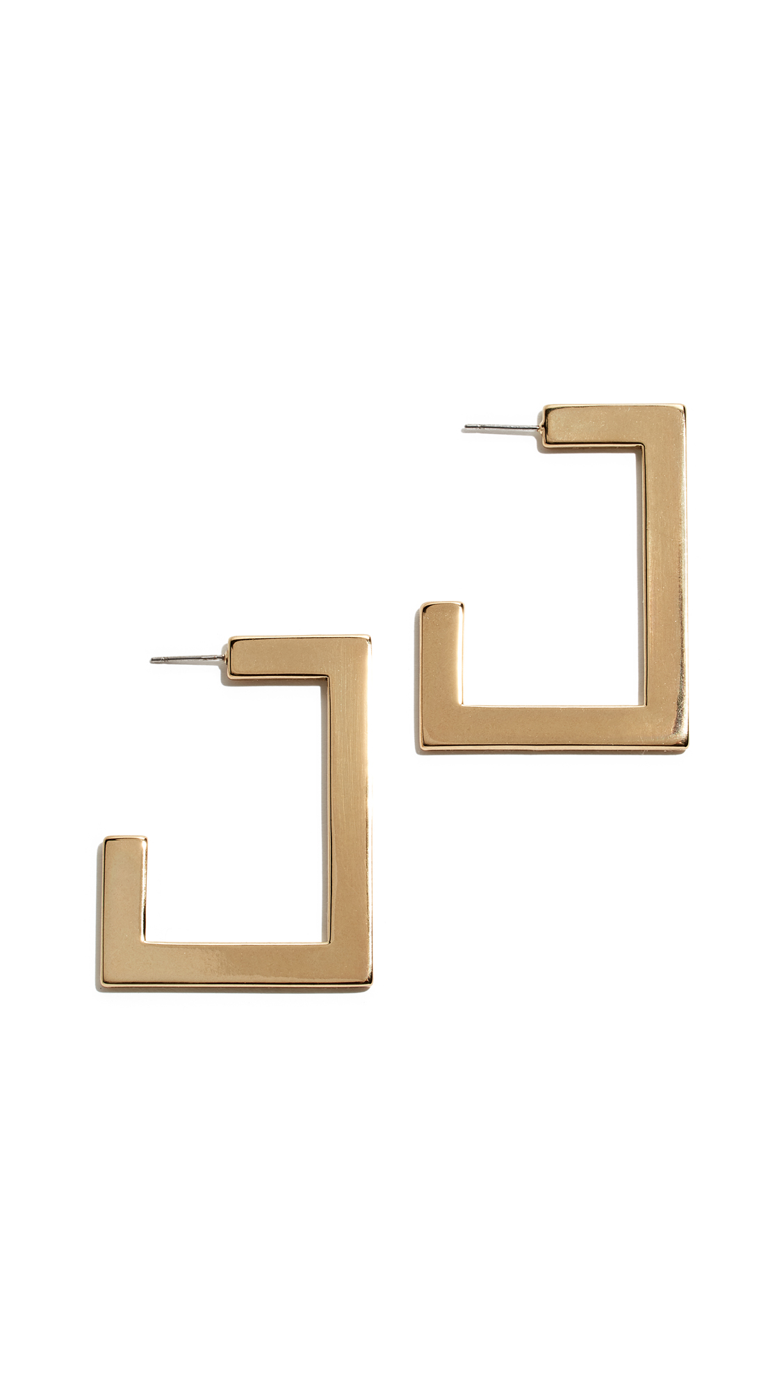 LUV AJ Boxy Hoop Earrings in Gold