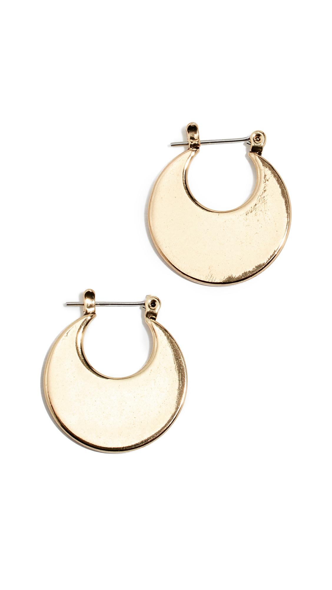 LUV AJ Eliptical Hoop Earrings in Gold