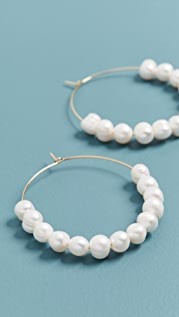 Luv Aj The Stacked Pearl Wire Hoops