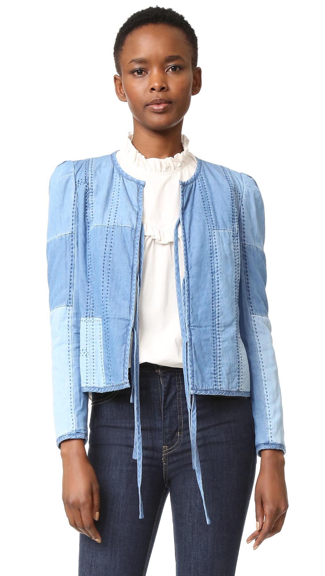 La Vie Rebecca Taylor Indigo Chambray Patchwork Jacket - Indigo Chambray Patch at Shopbop