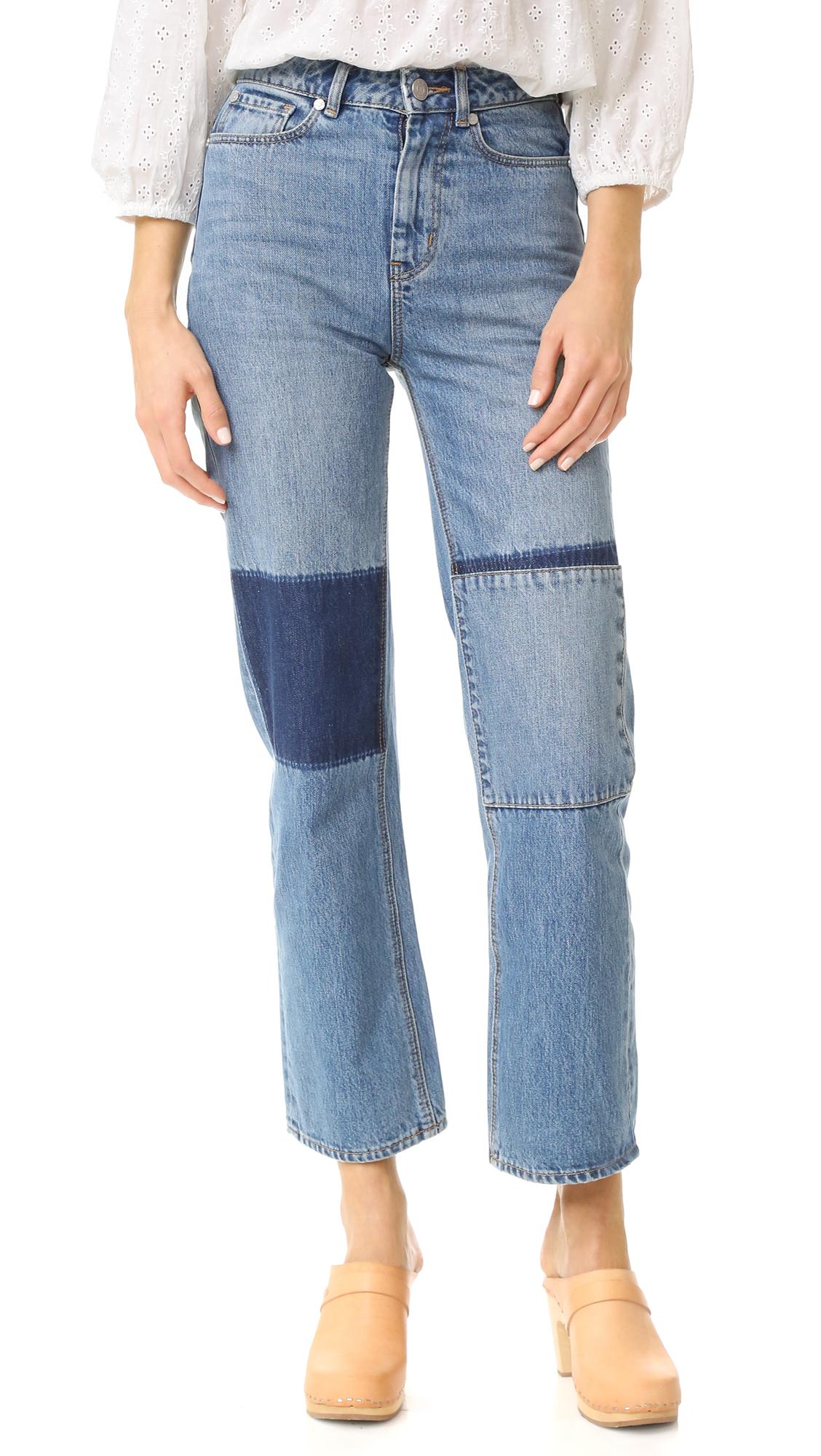 La Vie Rebecca Taylor Amelie Patchwork Jeans - Patch Wash at Shopbop