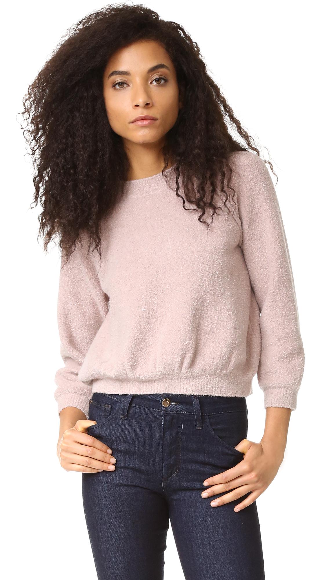 La Vie Rebecca Taylor Boucle Stretch Pullover - Blush at Shopbop