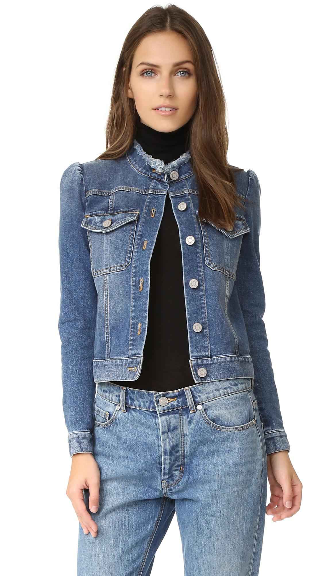 La Vie Rebecca Taylor Stretch Denim Jacket - Saltwater Wash at Shopbop