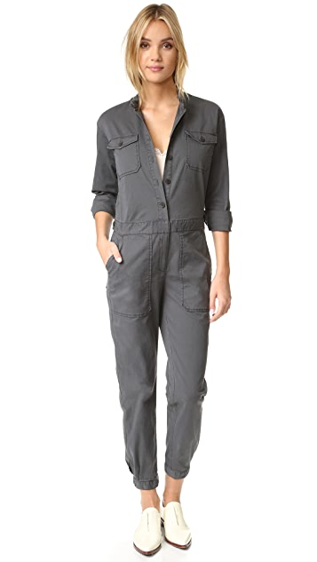 La Vie Rebecca Taylor Stretch Twill Jumpsuit