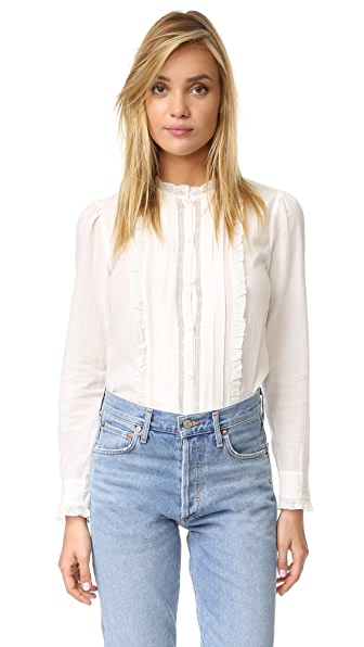 La Vie Rebecca Taylor Winter Gauze Lace Blouse