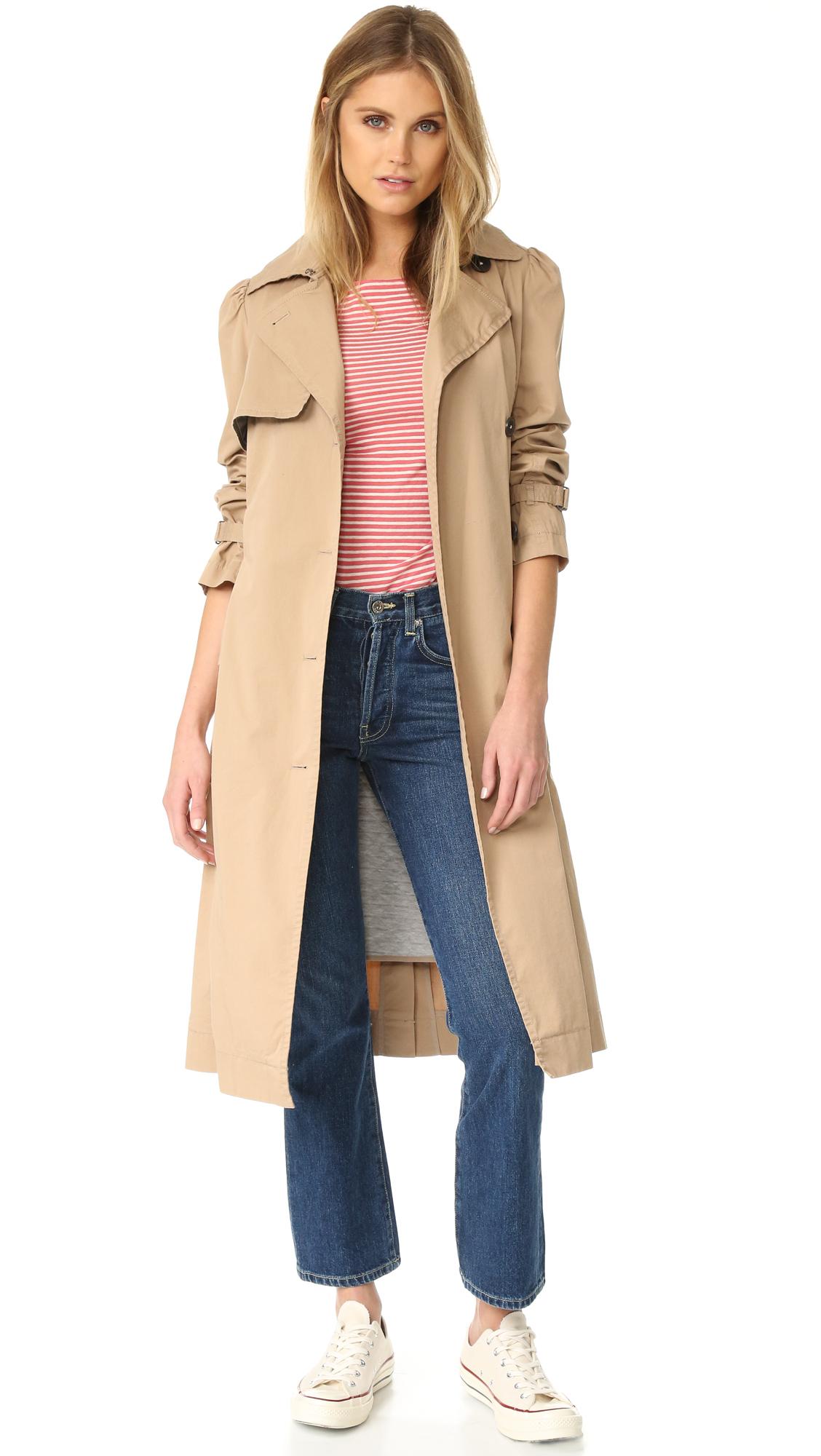La Vie Rebecca Taylor Twill Trench Coat - Tawny at Shopbop