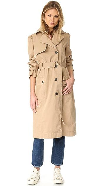 La Vie Rebecca Taylor Twill Trench Coat