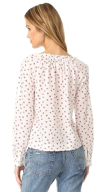 La Vie Rebecca Taylor Long Sleeve Papillon Top
