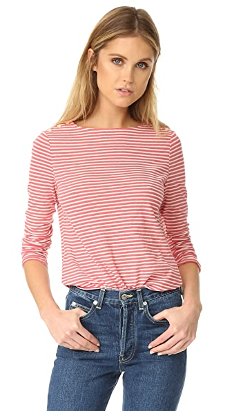La Vie Rebecca Taylor Long Sleeve Striped Tee