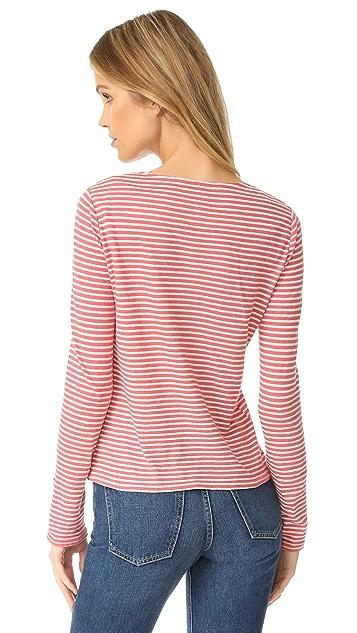 La Vie Rebecca Taylor Long Sleeve Striped Tee