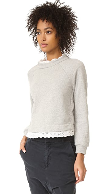 La Vie Rebecca Taylor Long Sleeve French Terry Pullover